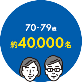 70~79歳約30,000名